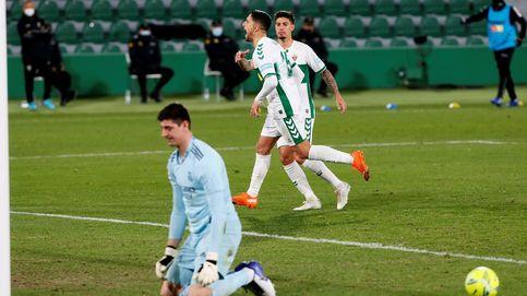 Vuelve el peor Real Madrid contra un Elche que da la campanada (1-1)