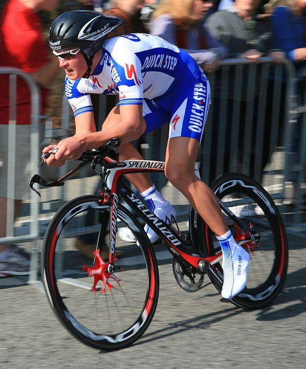 Foto: Dmytro Grabovskyy en el prólogo del Tour de California de 2008.