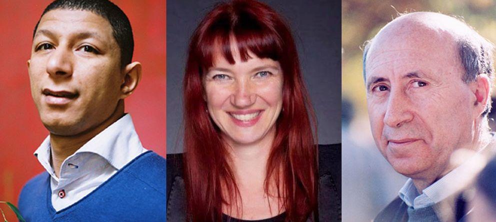 """Foto: De izquierda a derecha, Said Hammouche (Mozaik RH), Sandra Schürmann (Projektfabrik) y José María Pérez """"Peridis (Lanzaderas de empleo)"""