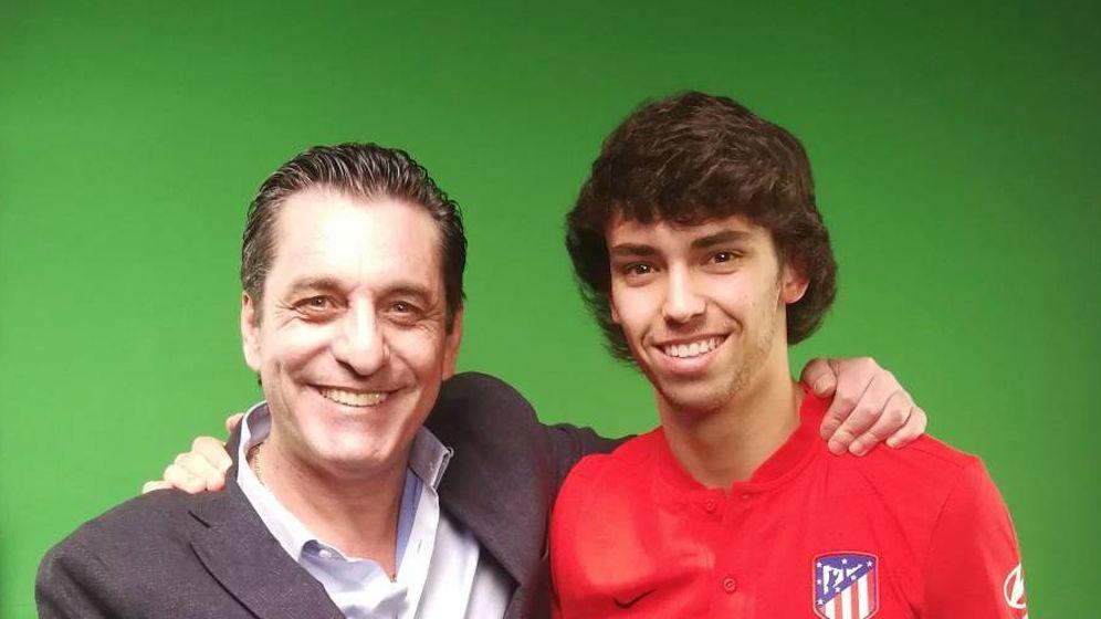 Foto: Paulo Futre junto con Joao Félix. (foto vía@PauloFutre)