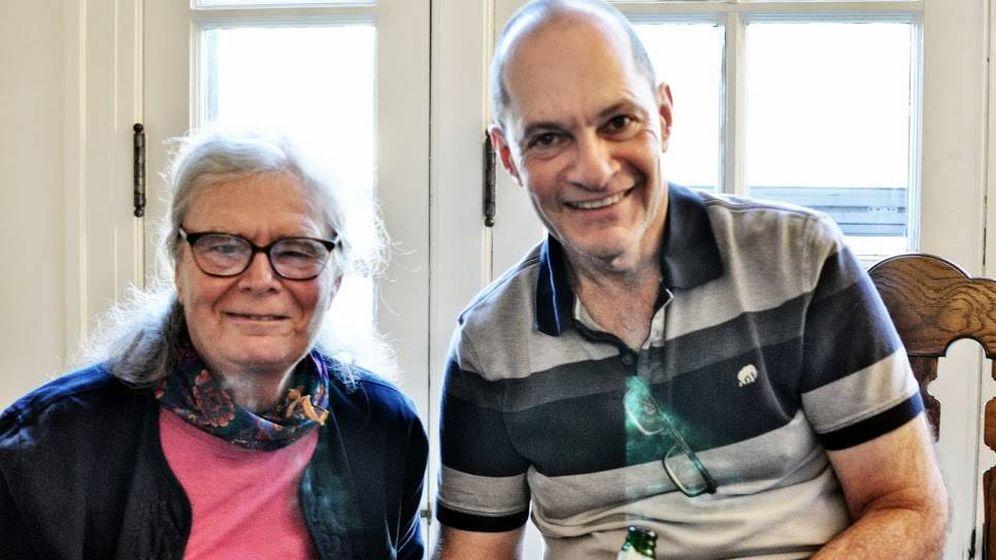 Foto: La ganadora del Premio Abel con el matemático Steven Bradlow (Laura Schaposnik)