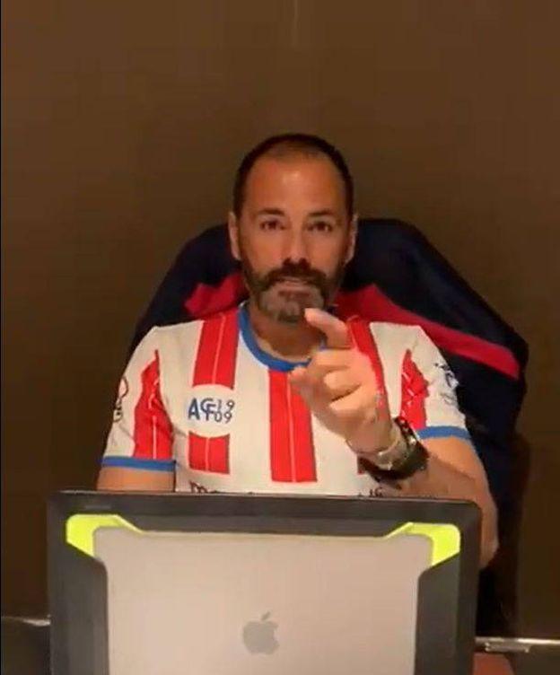 Foto: Salva Ballesta, con la camiseta del Algeciras, hace unos días.