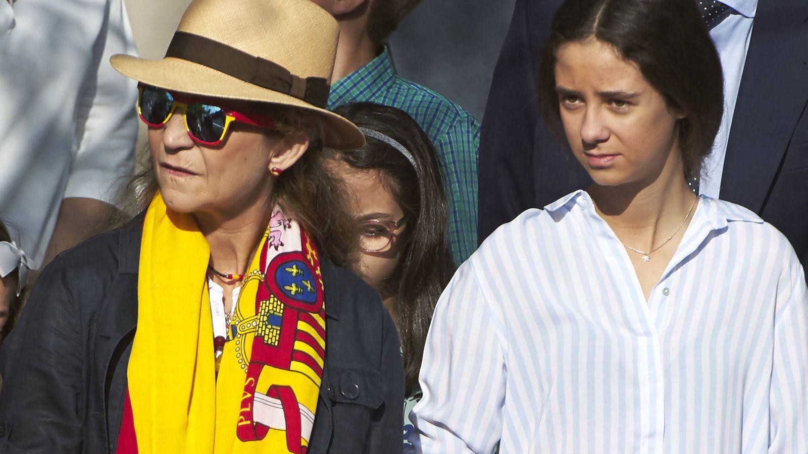 Foto: La infanta Elena y su hija. (Getty)
