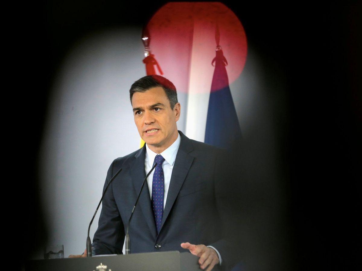 Foto: Pedro Sánchez, el pasado 14 de junio, durante su comparecencia en la Moncloa ante los medios. (Reuters)