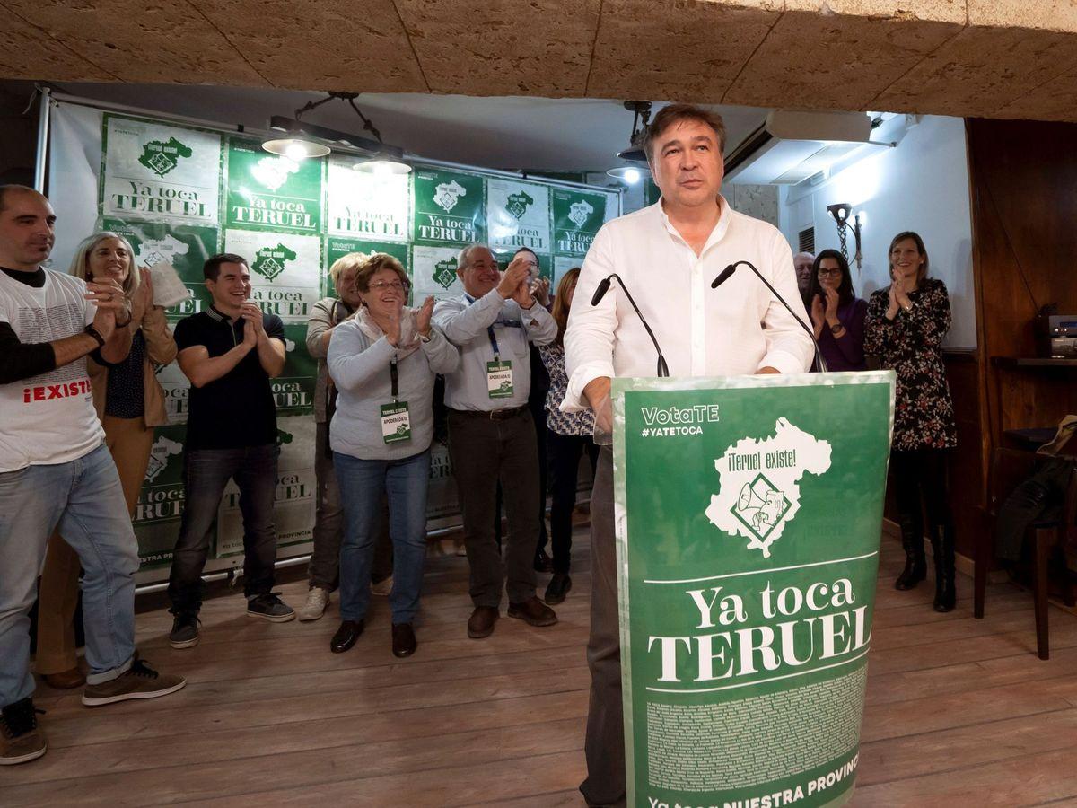 Foto: Tomás Guitarte, de Teruel Existe, el pasado 10 de noviembre. (EFE)