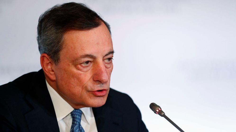 Foto: Mario Draghi, presidente del BCE, este jueves en Riga. (Reuters)