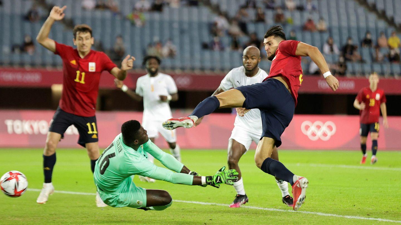 Mir anota el gol del empate frente a Costa de Marfil. (Efe)