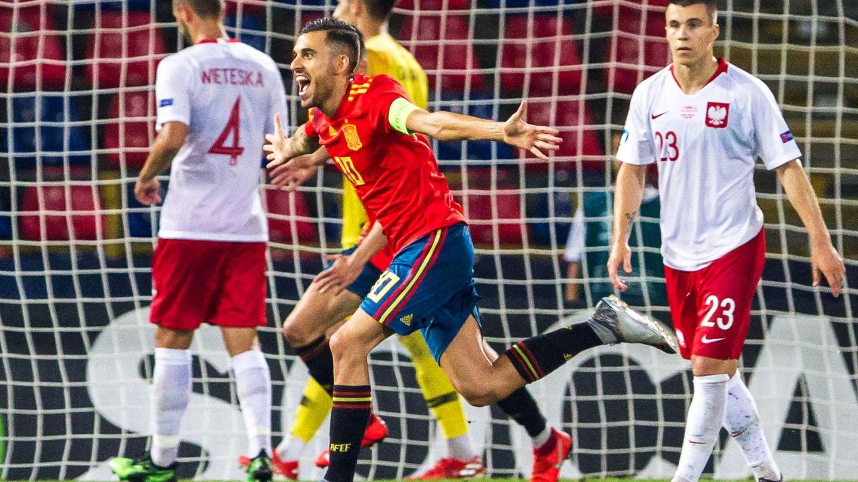 Ceballos celebra un gol con la Selección española Sub-21. (EFE)