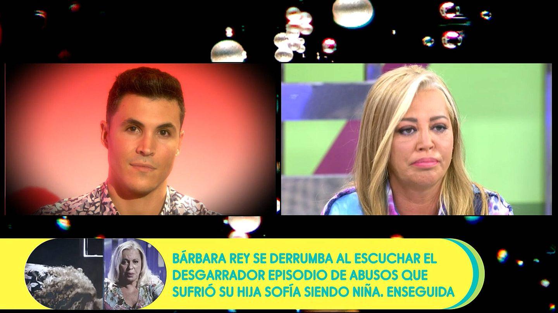 Kiko Jiménez y Belén Esteban, en 'Sálvame'. (Telecinco)