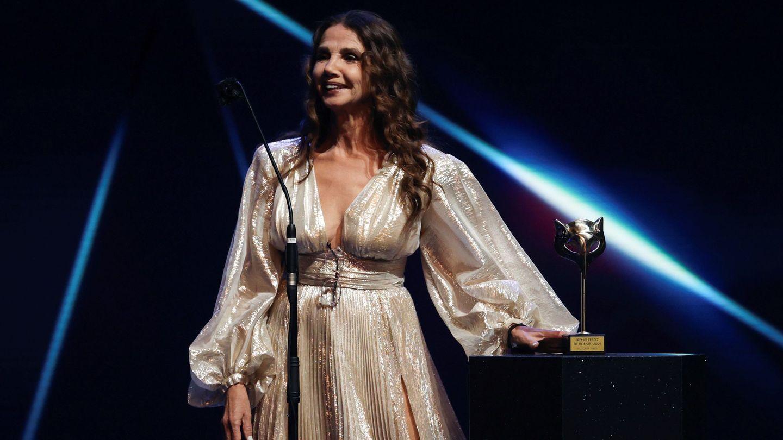 Victoria Abril, tras recibir el Premio Feroz de Honor 2021. (EFE)