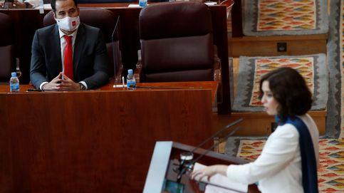 Ayuso atiza a Sánchez e Iglesias, anuncia un 112 antiokupas y 80M a Atención Primaria