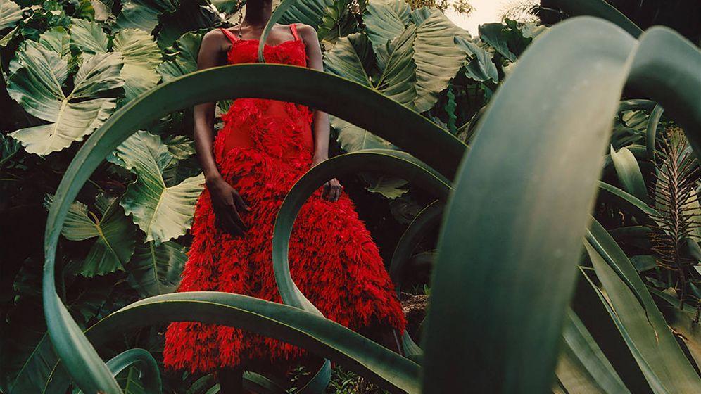 Foto: La modelo sudanesa protagonizó la campaña primavera-verano 2018 de Alexander McQueen. (Cortesía de la marca)