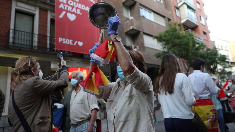 Foto: Protestas en Madrid. (EFE)