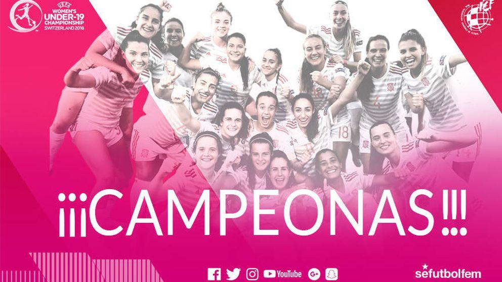 España se corona campeona en el Europeo sub 19 femenino ante Alemania