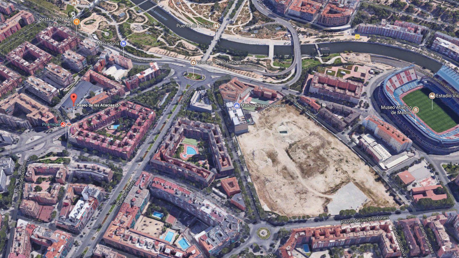 Foto: Imagen aérea de la zona.