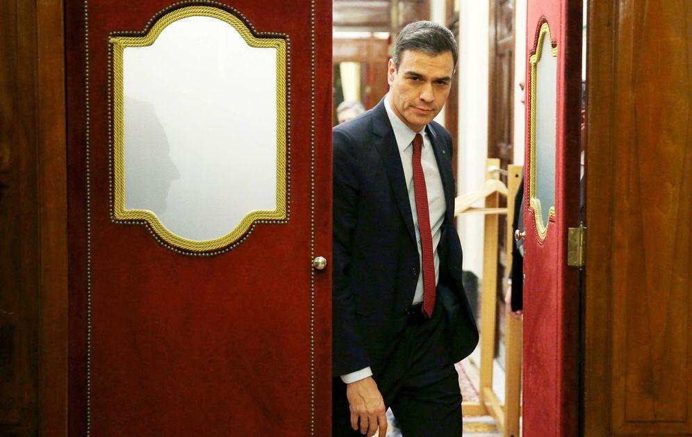 Foto: El presidente del Gobierno, Pedro Sánchez, en el Congreso este miércoles. (EFE)