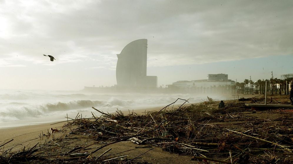 Foto: Vista de la playa de la Barceloneta. (EFE)