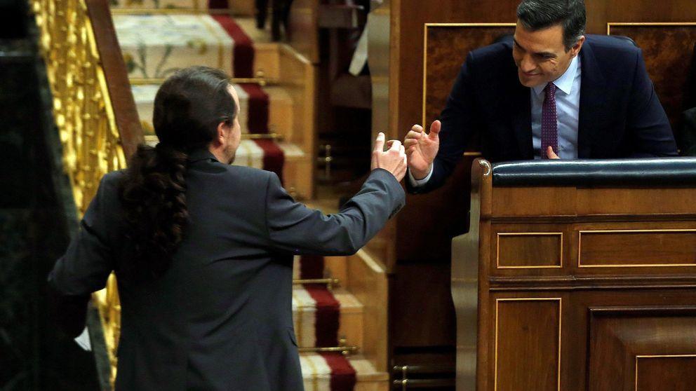 Sánchez salva el ataque de la derecha, las loas de Iglesias y la vigilancia de ERC