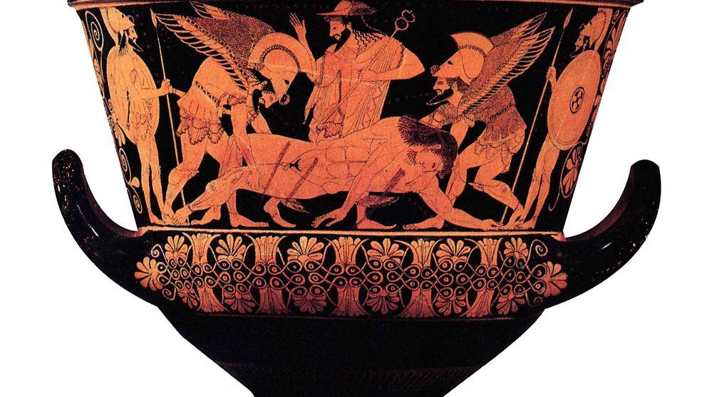 ¿Por qué los griegos pintaban gente roja en vasijas negras?