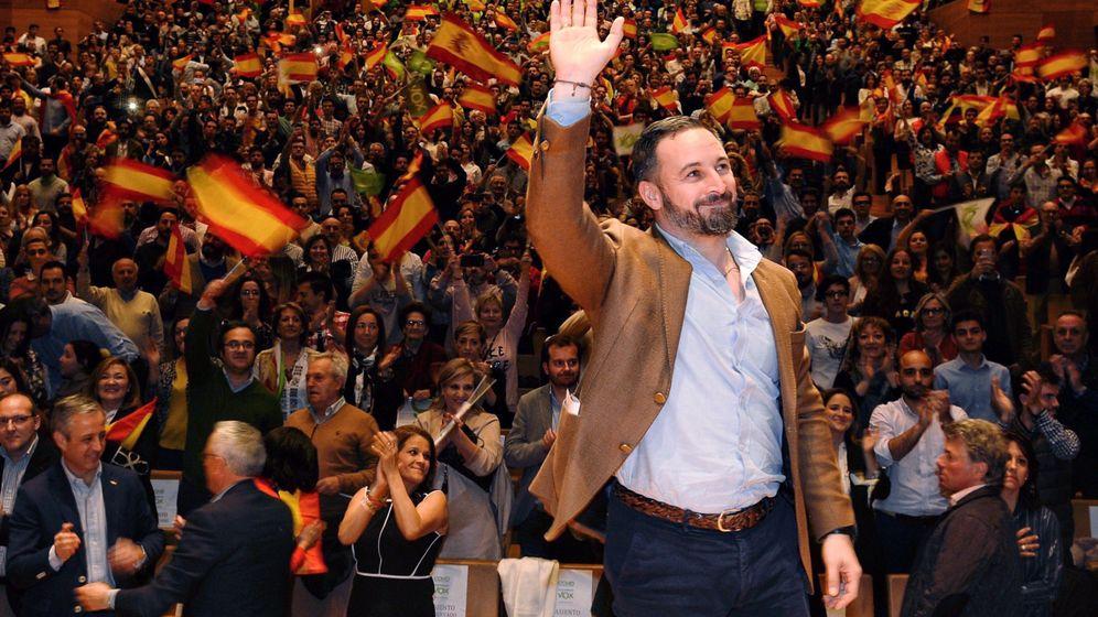 Foto: Santiago Abascal en un acto de Vox en Valladolid. (Vox)