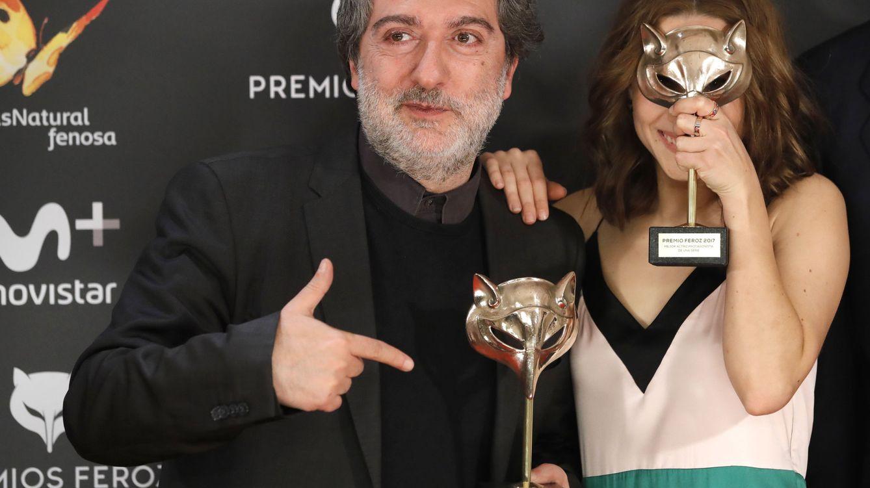 Foto: Javier Olivares con Aura Garrido, en la IV edición de los Premios Feroz