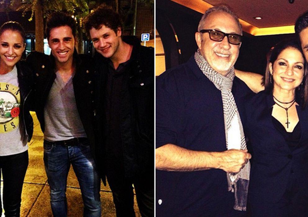 Foto: El matrimonio con los actores de 'Hoy no me puedo levantar' y el cantante con Gloria y Emilio Estefan (Instagram)