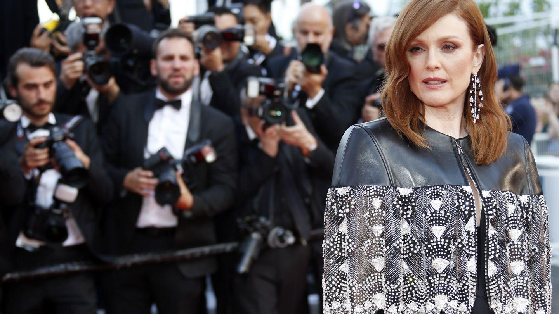 Otra imagen de Julianne Moore en Cannes  (REUTERS Jean-Paul Pelissier)
