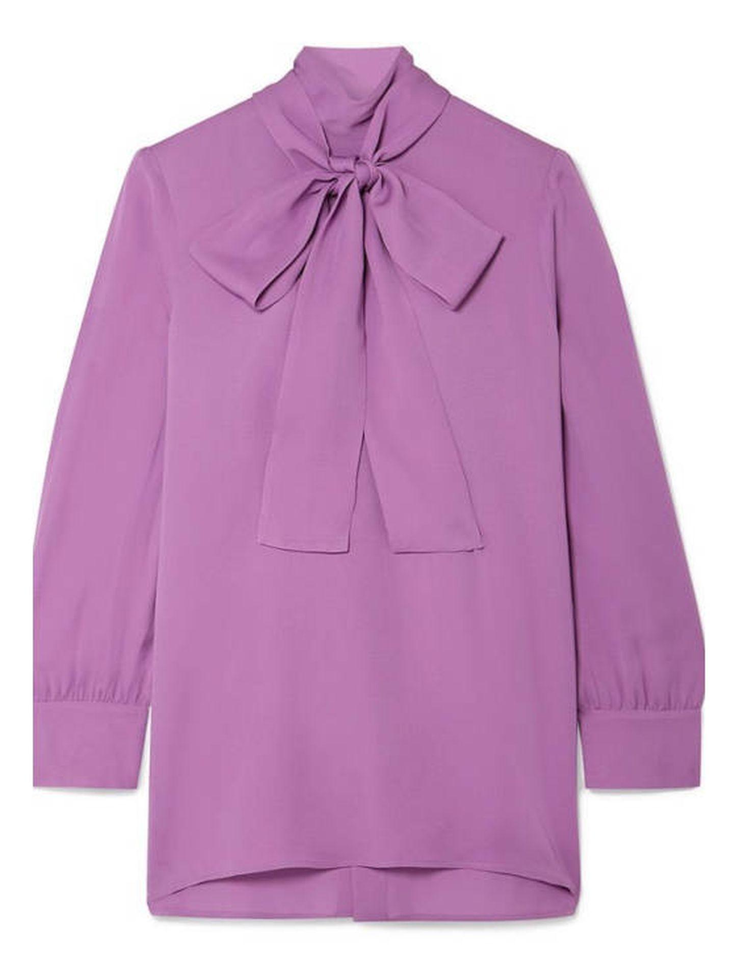 La blusa de Gucci que tiene Kate Middleton. (Cortesía)