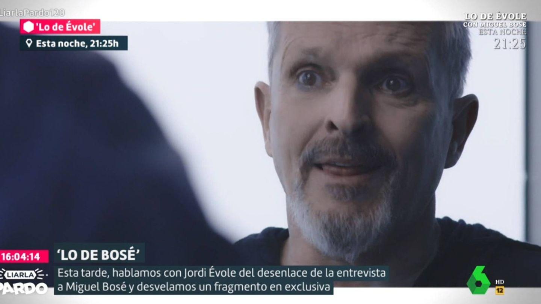 Miguel Bosé, en 'Lo de Évole'. (La Sexta).