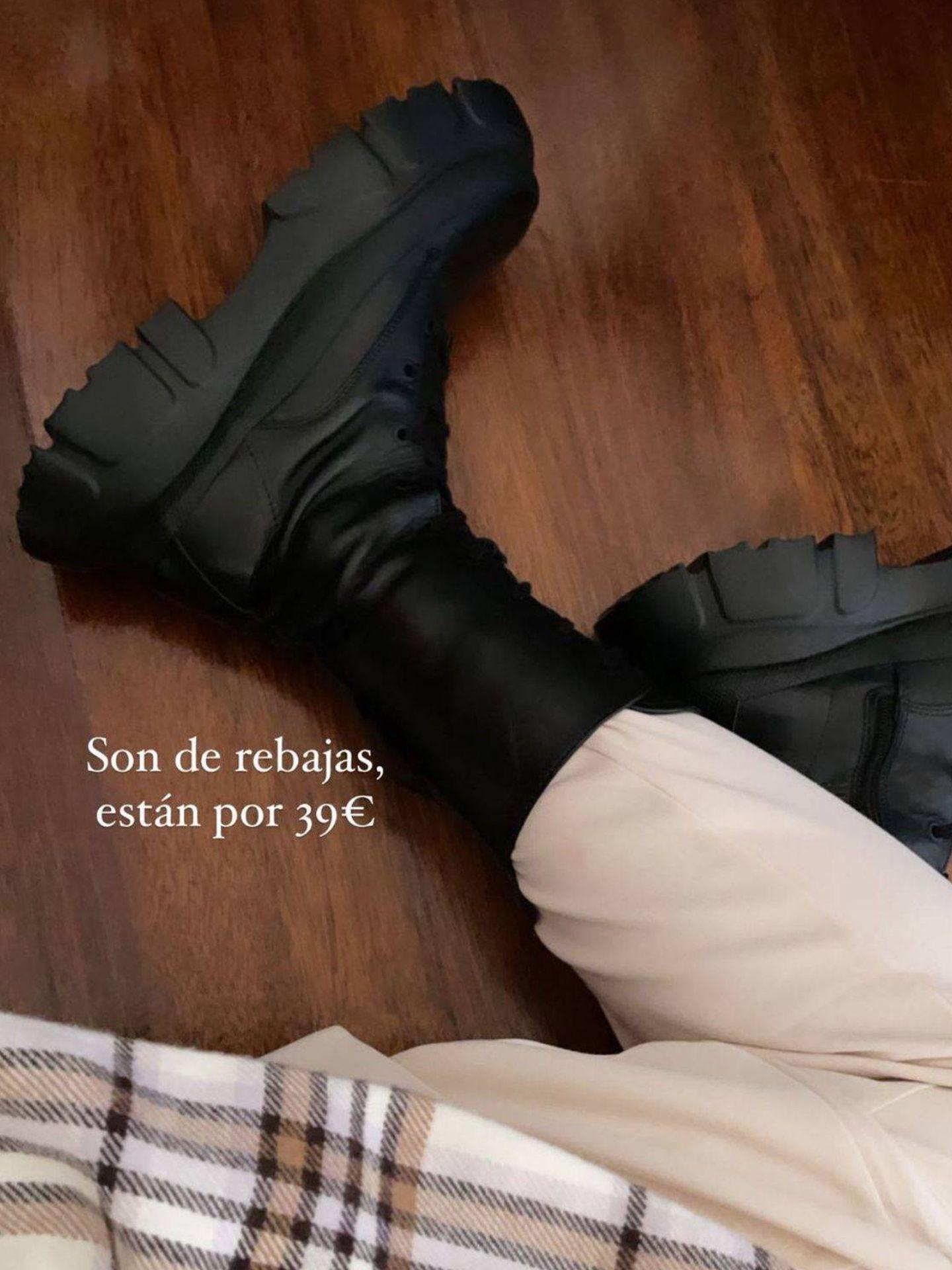 Botas chunky de las rebajas de Zara. (Cortesía)