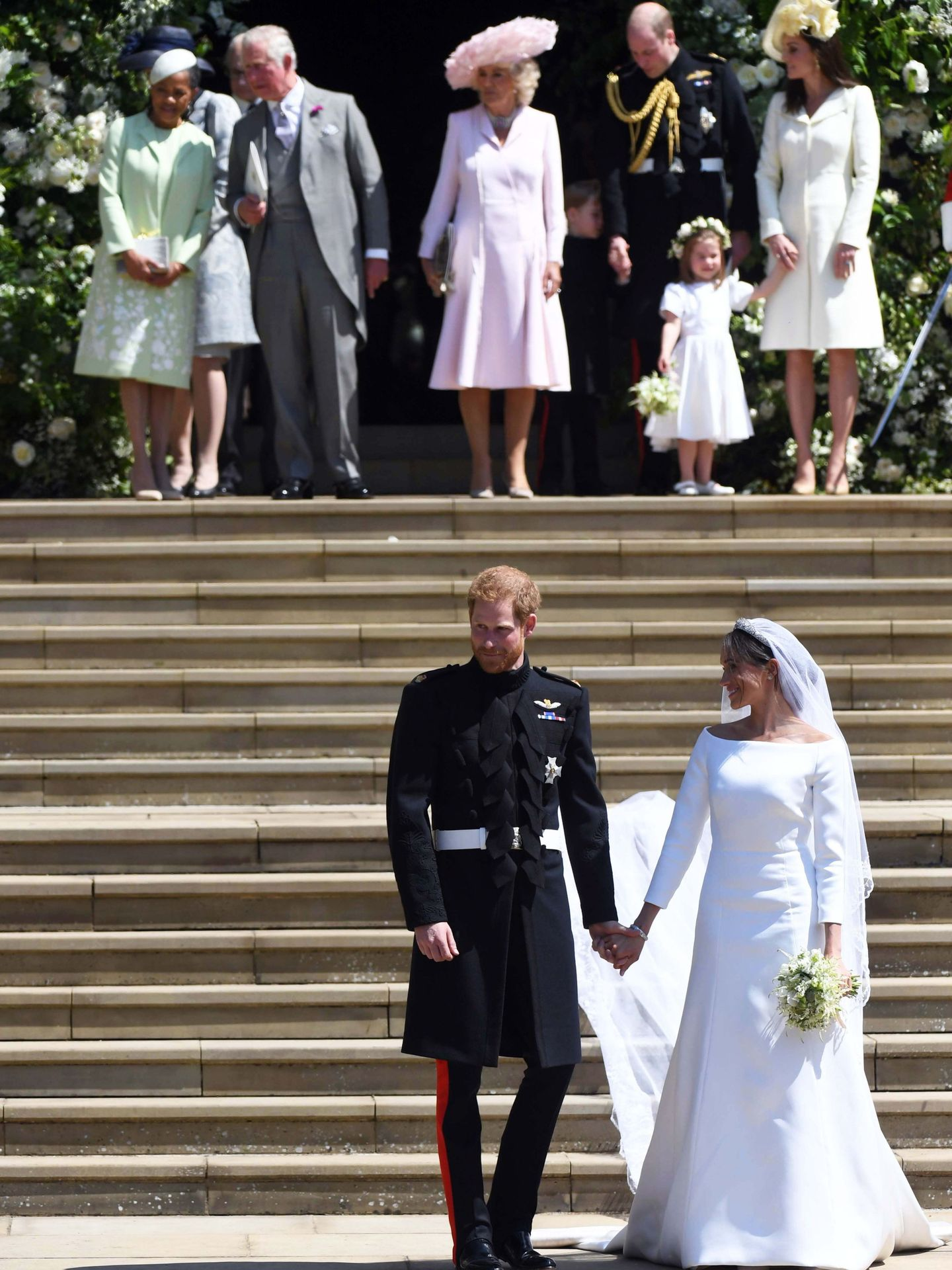 Harry y Meghan, el día de su boda. (EFE)