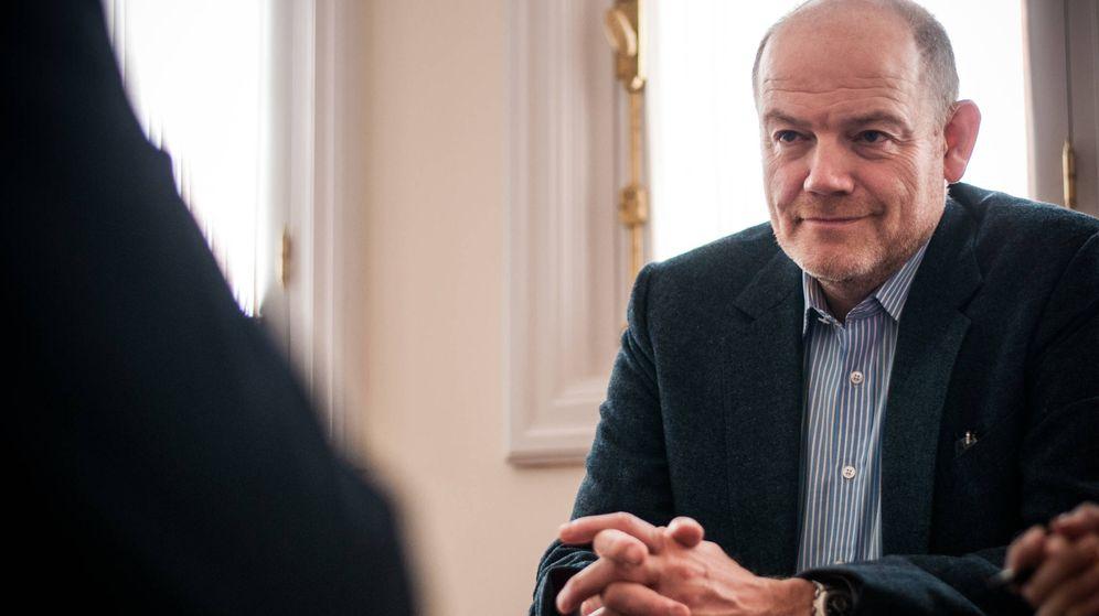 Foto: El consejero delegado de 'The New York Times' durante un momento de la entrevista. (Carmen Castellón)