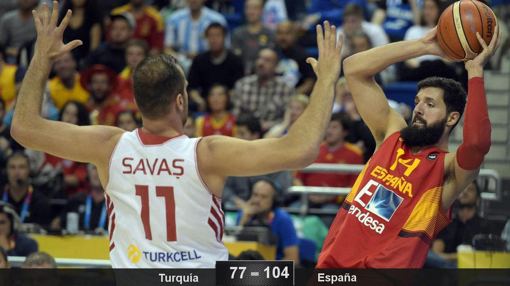 España arrolla a Turquía y despeja las dudas en el comienzo del EuroBasket