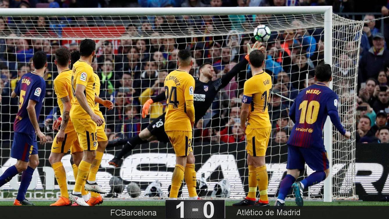 Foto: El gol de Messi. (Reuters)