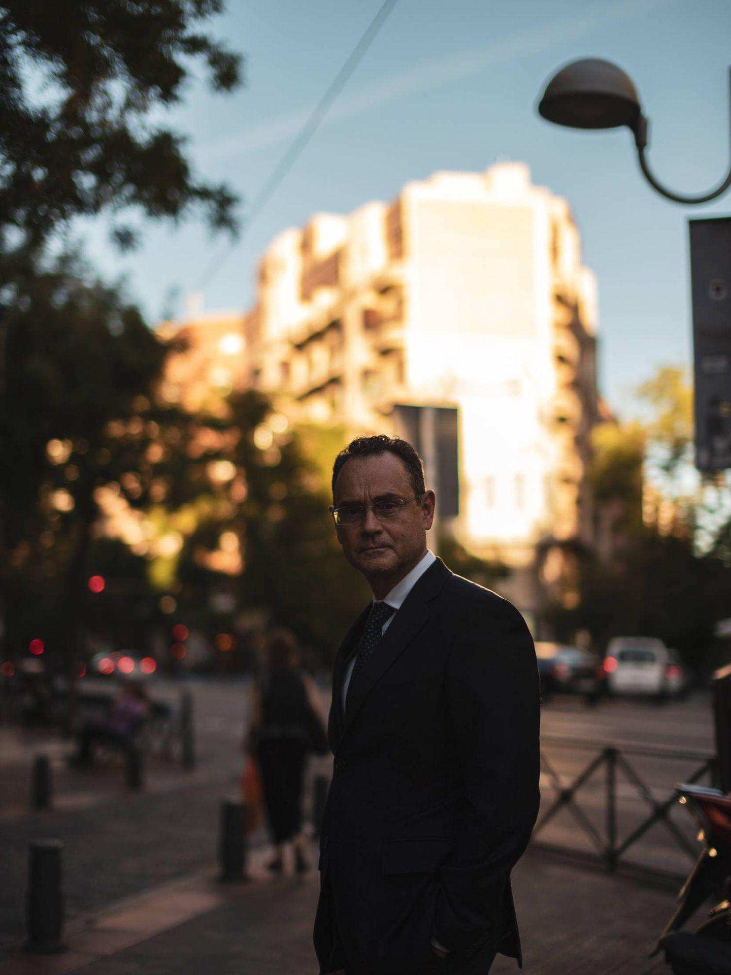 Pedro Baños, antes de la entrevista. (J. Álvaro Manzano)