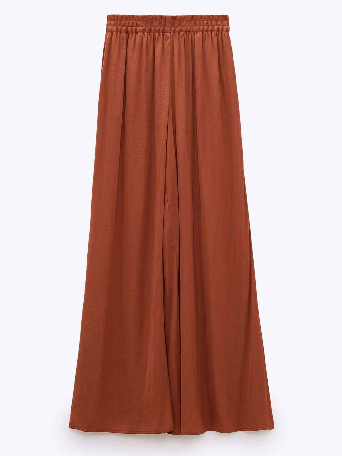Pantalón ancho de Zara. (Cortesía)