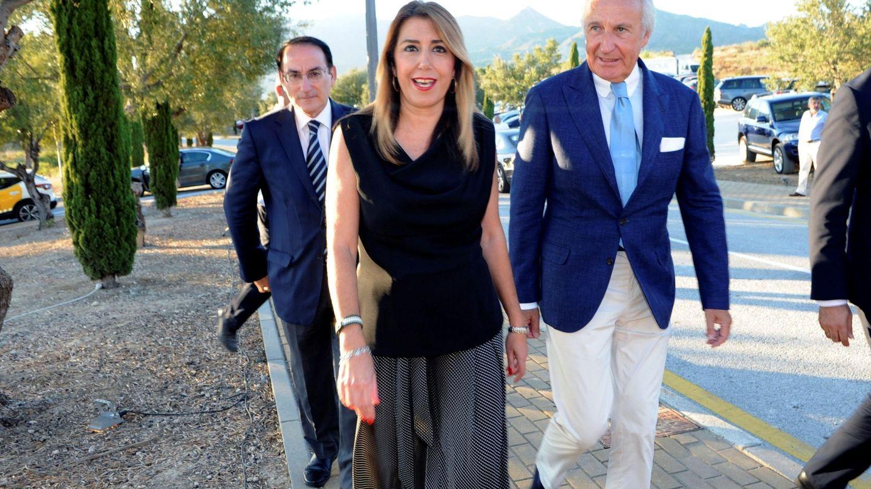 La presidenta de la Junta de Andalucía, Susana Díaz, junto al empresario Ricardo Arranz. (EFE)