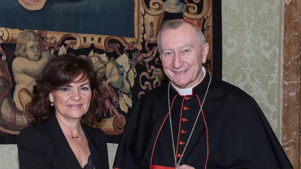 Foto: Carmen Calvo se reúne con Pietro Parolin. EFE