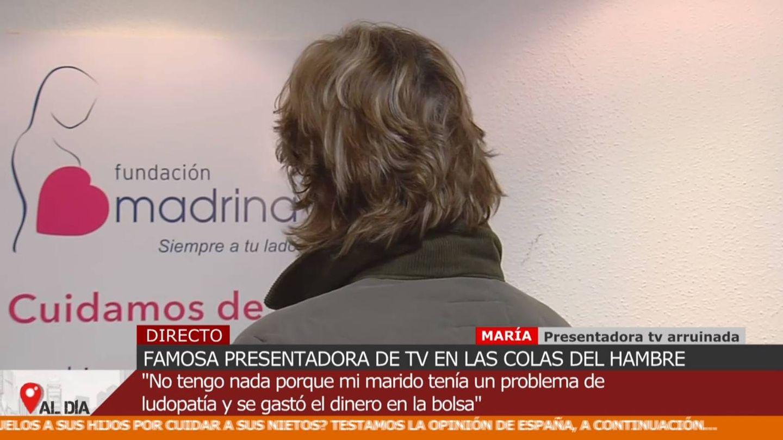 María, presentadora en la ruina. (Mediaset)
