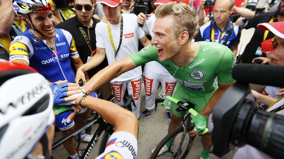 Foto: Kittel se acerca a su primer maillot verde. (EFE)