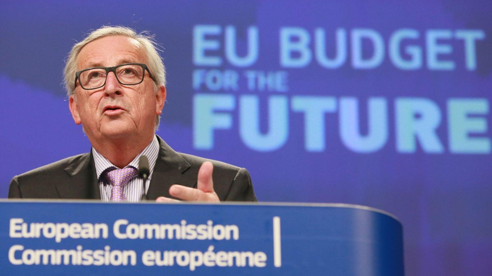 Foto: El presidente de la Comisión Europea, Jean Claude Juncker, en rueda de prensa. (EFE)