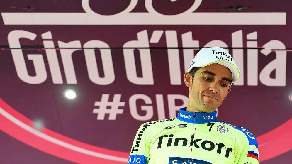 Foto: Contador tras conservar el liderato en la sexta etapa (Efe).