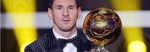 Messi sorprende en la Gala del Balón de Oro con un esmoquin de lunares