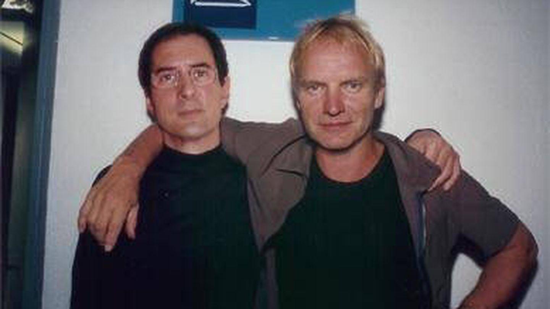 Gay Mercader, con Sting.