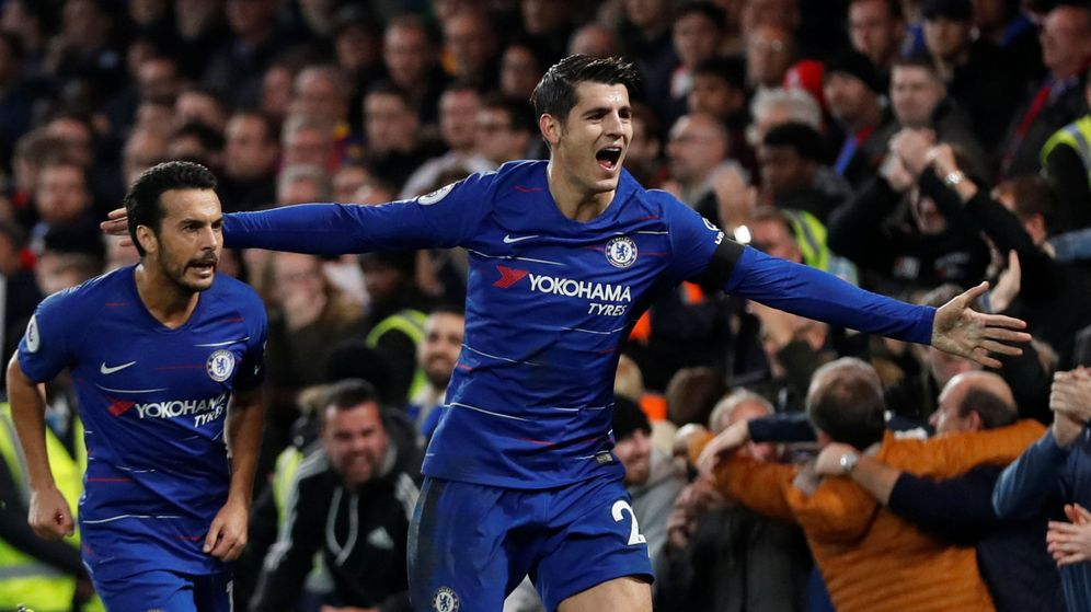 Foto: Álvaro Morata celebra un gol con el Chelsea. (Reuters)