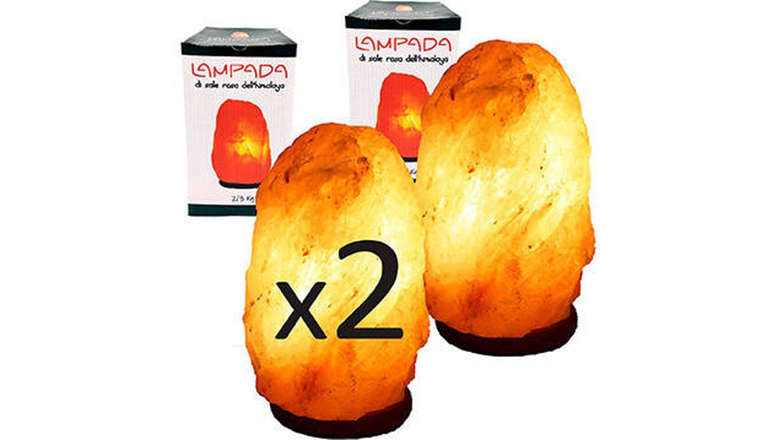 Juego de 2 lámparas de Sal del Himalaya de My Custom Style