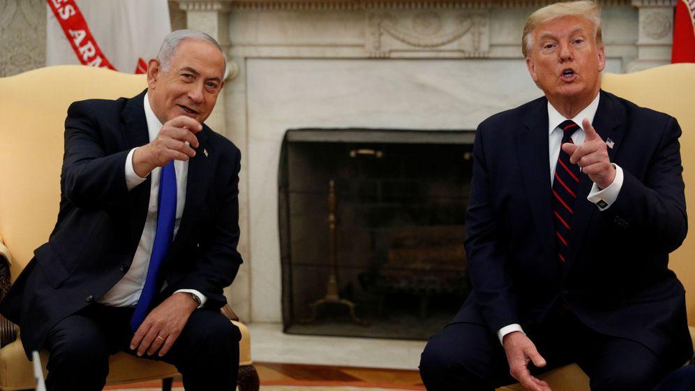 Foto: Benjamin Netanyahu (i), junto a Donald Trump en la Casa Blanca. (Reuters)