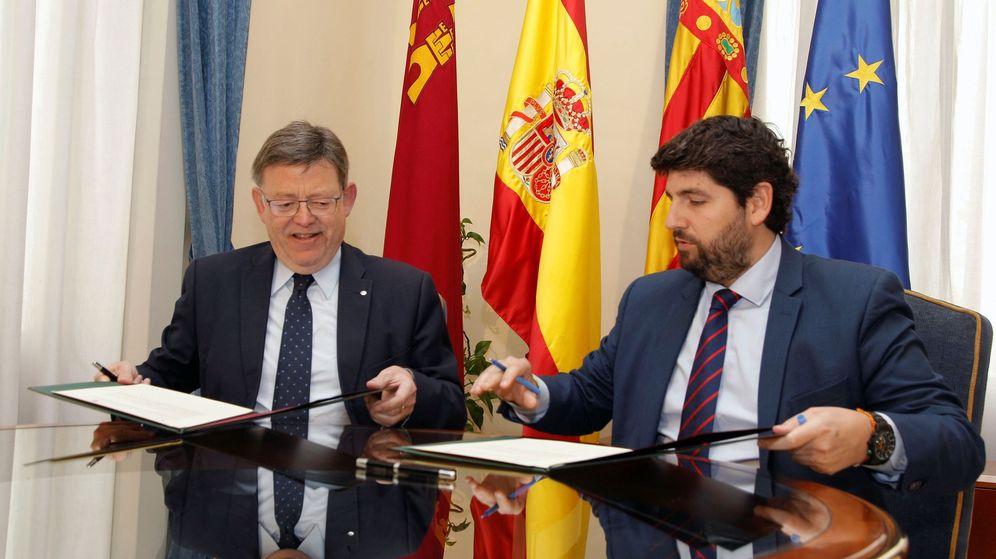 Foto: Ximo Puig y López Miras, en un encuentro celebrado en 2018. (EFE)