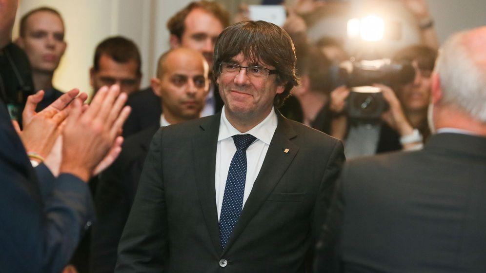 Foto: Puigdemont en el acto de alcaldes en Bruselas. (EFE)
