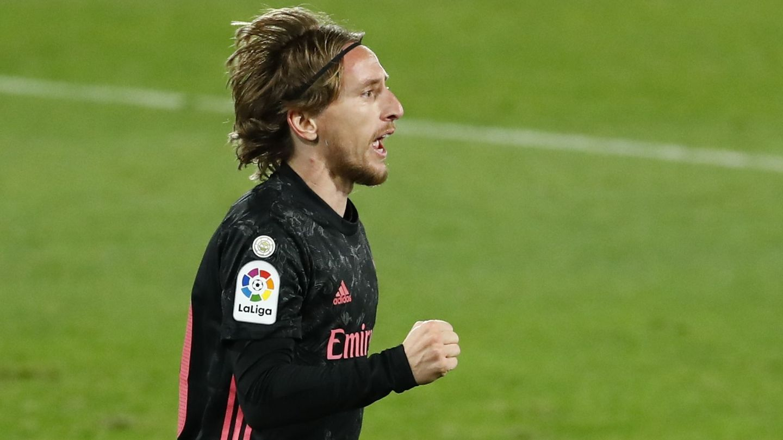 Modric, tras marcar frente al Elche. (Reuters)